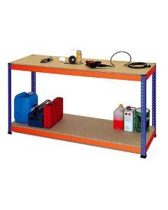 Table de travail avec étagère inférieure