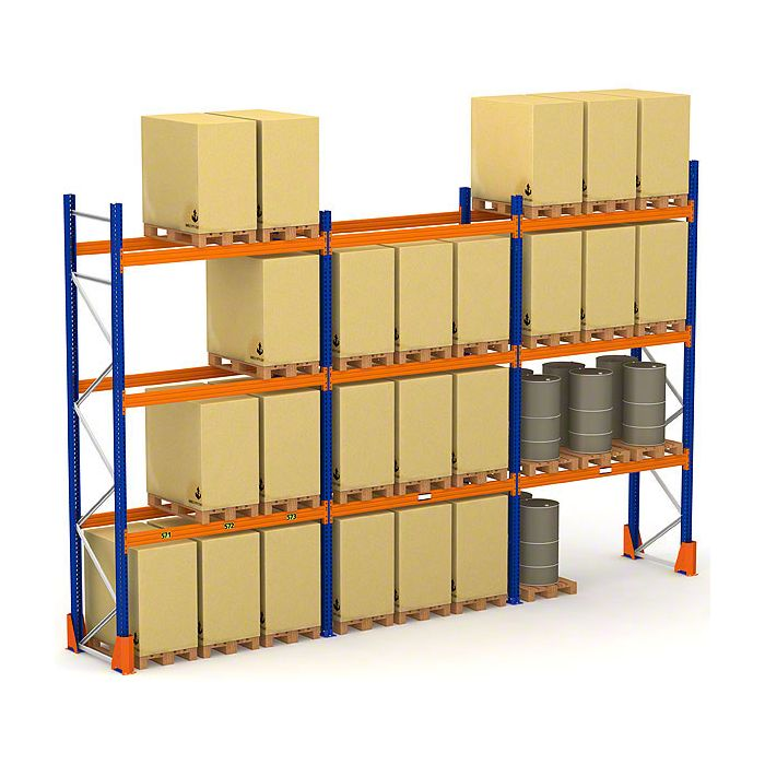Triple module rack de stockage