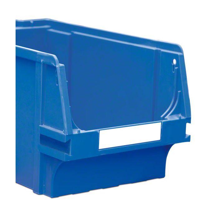 Étiquettes pour bacs empilables en plastique